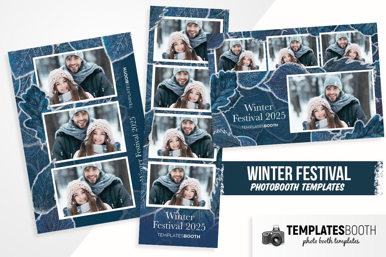 winter festival photobooth templates