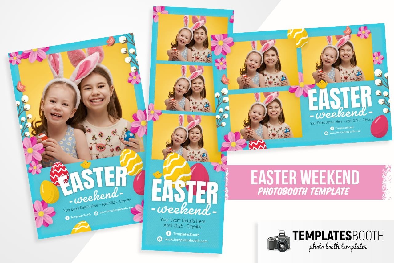 easter photobooth templates for photoshop