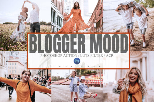 5 Blogger Mood Photoshop Actions, ACR, LUT Presets