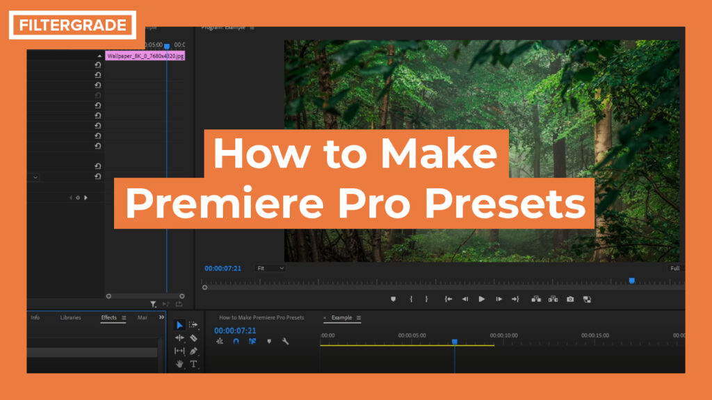 How to Make Premiere Pro Presets