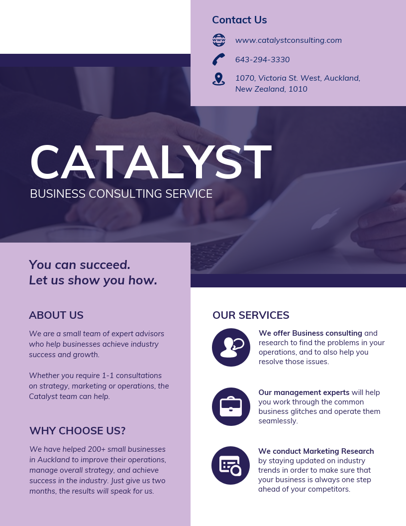services proposal for creative business