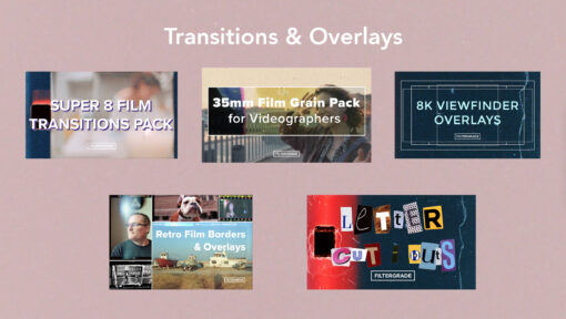 Transitions and Overlays - The Analog Filmmakers Bundle - FilterGrade