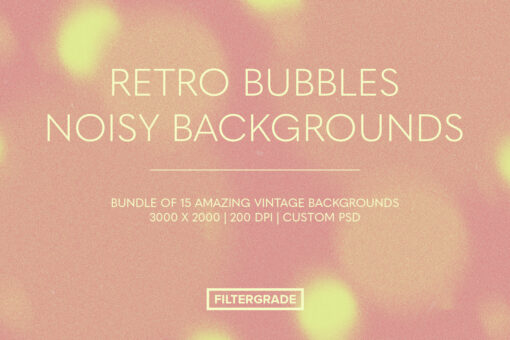 Retro Bubbles Noisy Backgrounds Pack