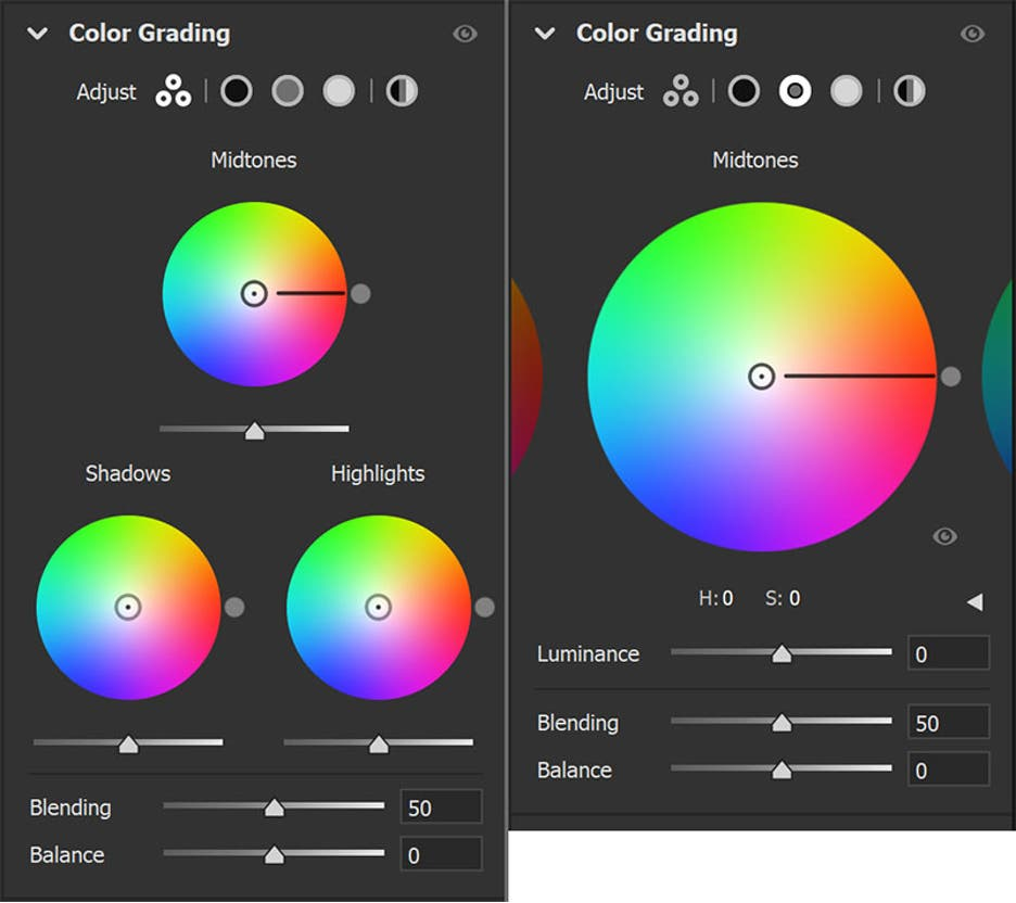 color wheels lightroom update
