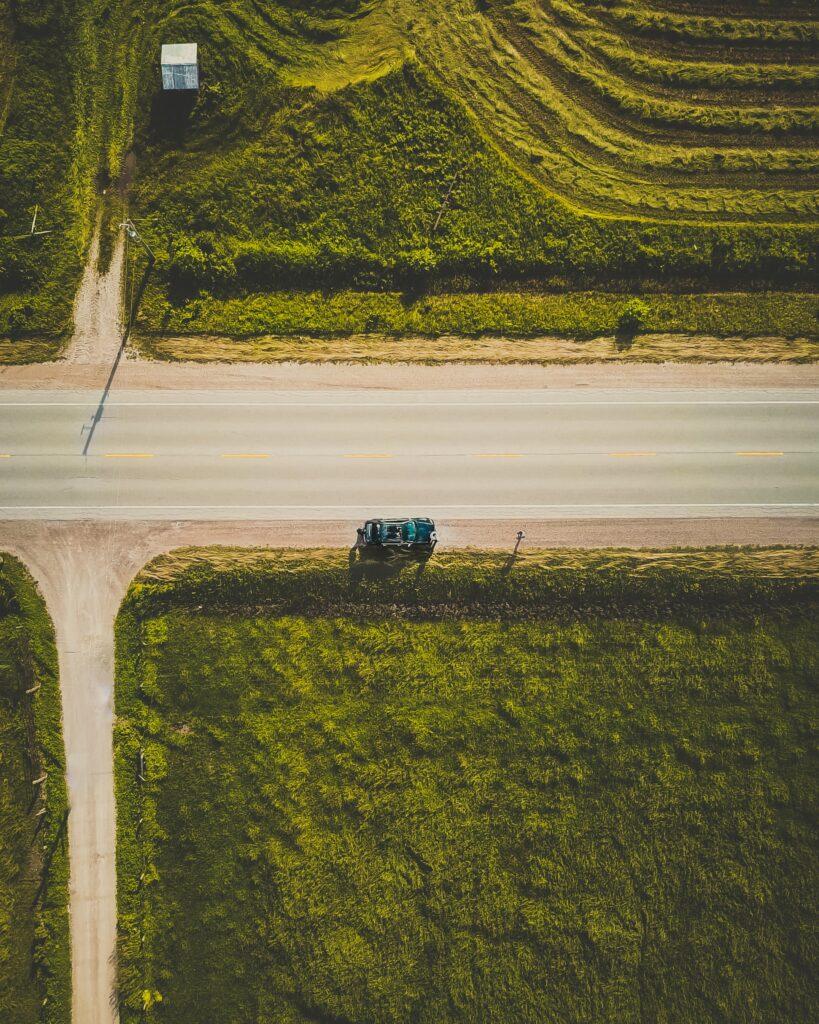 aerial photo summer roadtrip