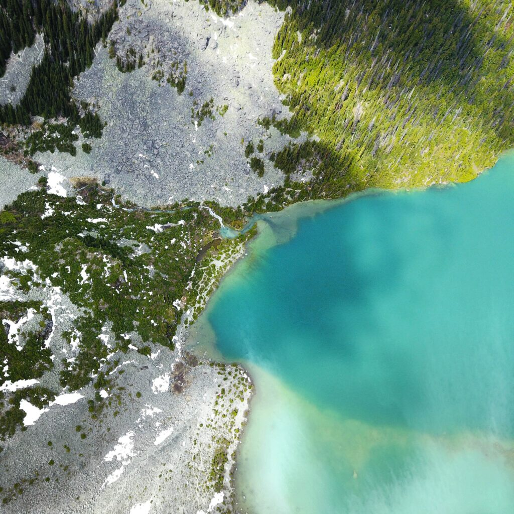 aerial photography canada forest