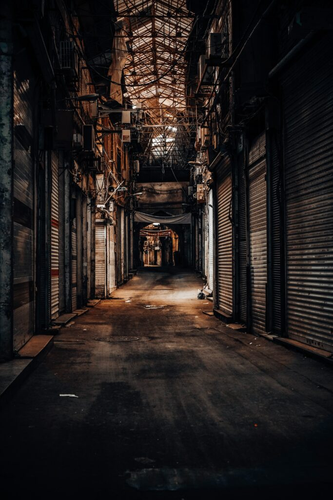 grungy street photo tehran iran