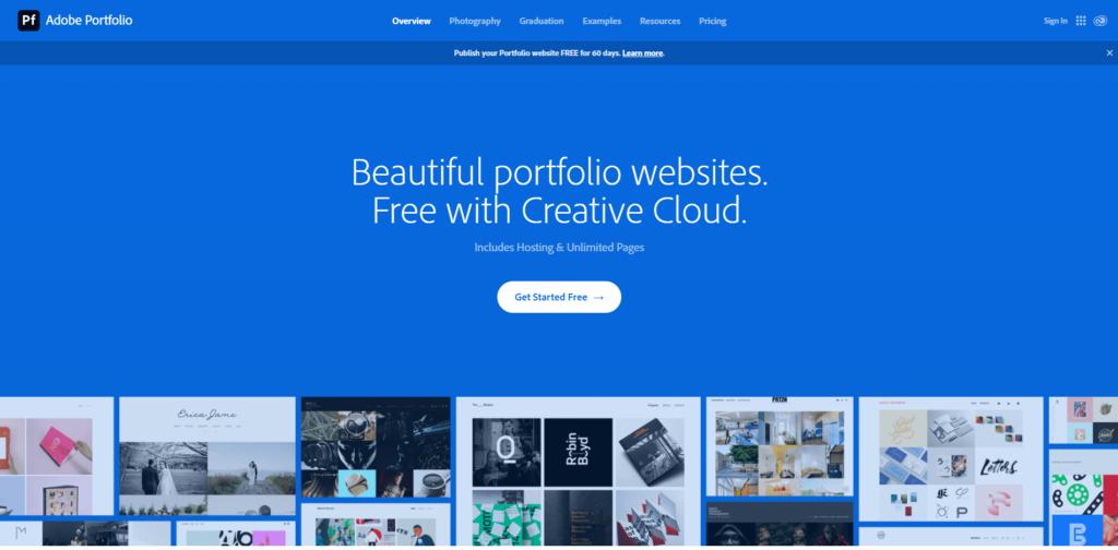 adobe portfolio builder