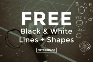 cover FREE BW Lines and Shapes - FilterGrade