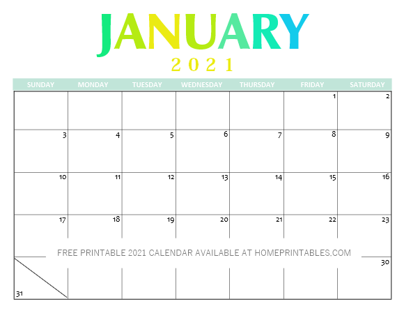 FREE Calendar Templates for 2021 - Ejournal Medical Education