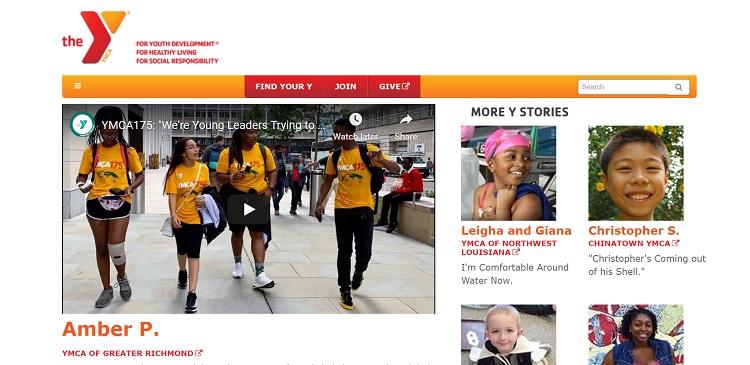 ymca website showcase video example