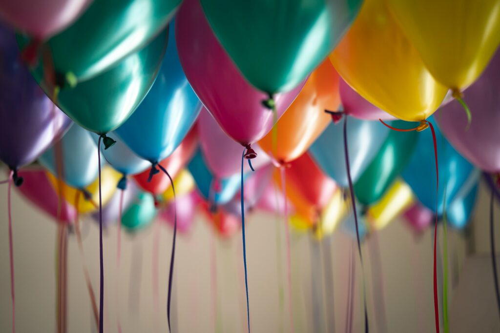 balloons success and celebration