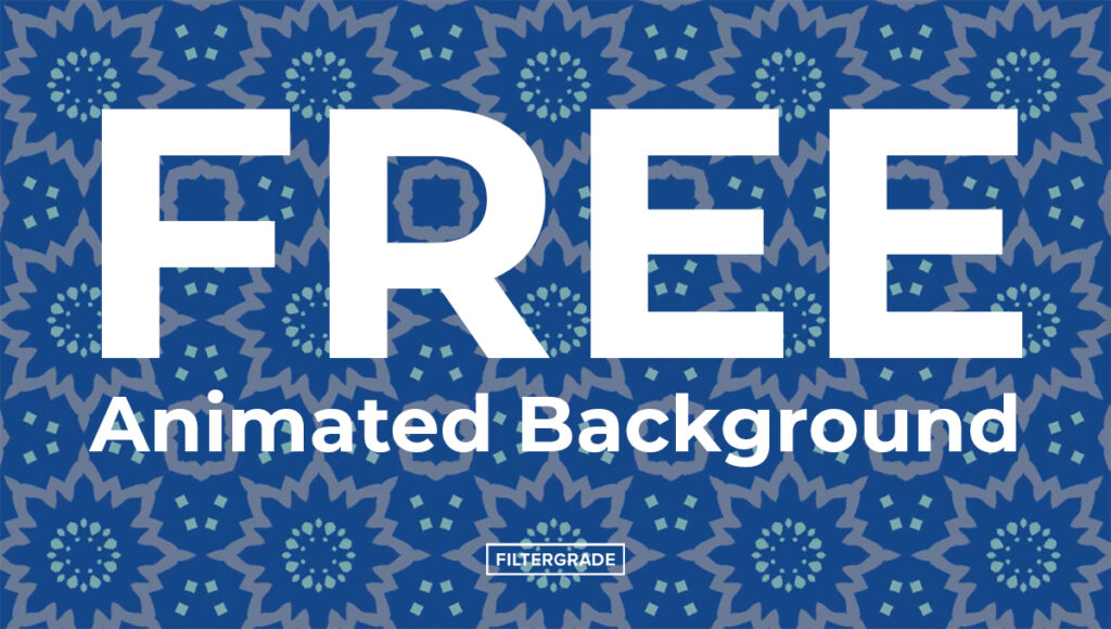 cover FREE Animated Background - FilterGrade