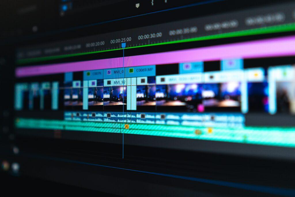 hire a video editor  editing screen