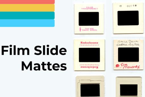 Cover Film Slide Mattes - FilterGrade