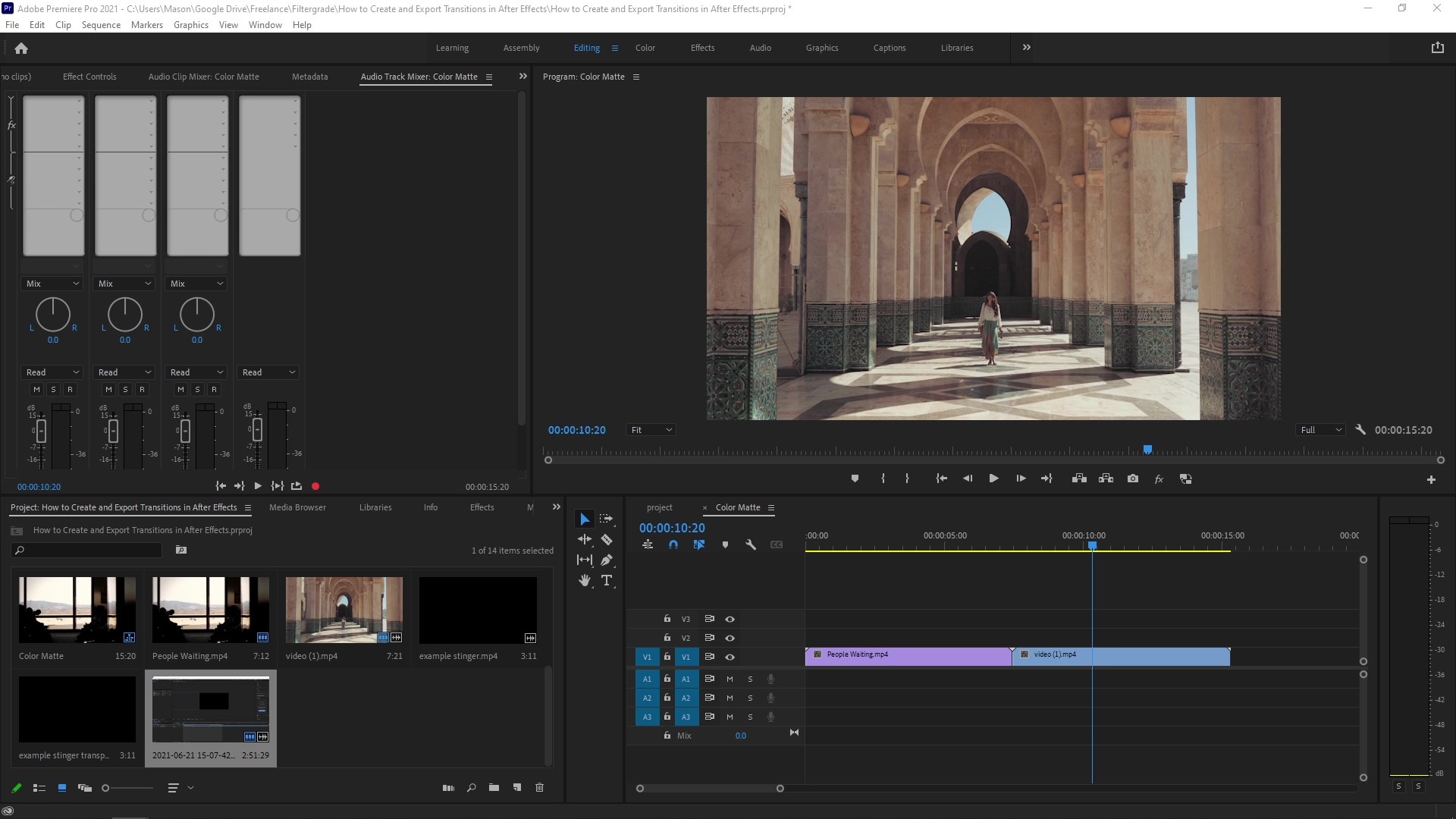 How to Make Transitions in After Effects